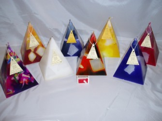 100hour Block Pyramid Candles 200highx150x150