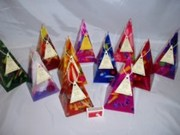 35hour Pyramid Candles 200 highx100x100